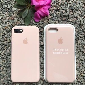 NEW iPhone 7/8 Plus Silicone Case Pink Sand